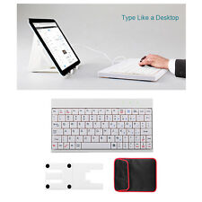80 Keys Full Function USB Keyboard For Android Windows Tablet PC W/ Holder Stand