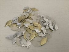 Vintage Wilton Gold And Silver Foil Leaves Lot Wedding Aluminum
