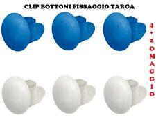 44//6 CONF 100 PZ BOTTONE FISSAGGIO TARGA MOD.1999 Blu COD