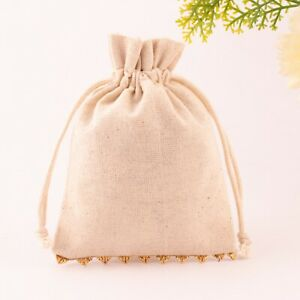 25 Pcs Cotton Drawstring Pouch For Jewelry Packaging 3x4 Inch