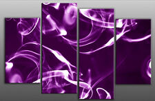 CANVAS PICTURE LARGE PURPLE ABSTRACT SMOKE SPLIT 40x28""