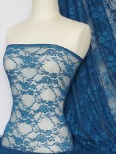 French blue flower soft stretch lace wiith lycra Q137 FBL