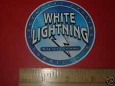 """3"""" WHITE LIGHTNING BICYCLES Lube Chain Race Road BIKE FRAME STICKER DECAL Small"""