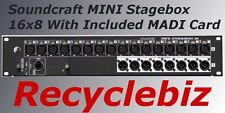 Soundcraft MINI Stagebox 16R for Performer Expression Compact Cat5 MADI-USB Card