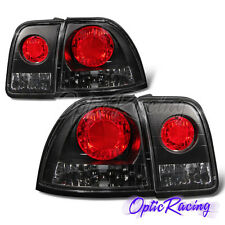 [Altezza Style]For 1996-1997 Honda Accord Dx/LX/EX Black Clear Lens Tail Lights