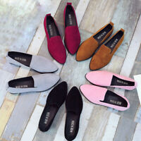 Women Ladies Slip On Flat Sandals Casual Shoes Fashion Loafer Pointed Toe Shoes