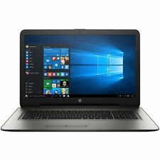 "HP 17t-x100 Turbo Silver Laptop PC 17 17.3"" i3-7100u 2.4Ghz 8GB 1TB DVD+RW WiFi"