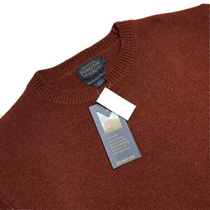 New ! Large Pendleton Oxblood Red Washable Shetland Wool Crew Neck Sweater