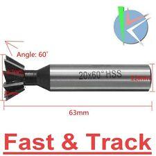 Fresa coda di rondine 20mm 60 gradi Degree HSS Dovetail Milling Cutter Straight