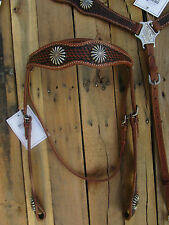 WESTERN HEADSTALL BREAST COLLAR SHOW BARRLE TRAIL PLEASURE HORSE LEATHER BRIDLE