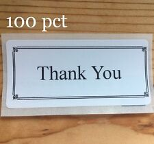 100 Thank You  SEALS LABELS STICKERS ENVELOPE/PACKAGE