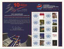 United Nations Vienna No Scott Number, M/S 2013 Complete Set FVF MNH