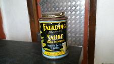 vintage faulding saline lemon flavoured health salts  tin