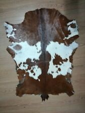 Natural Goat Hair On Genuine Leather Hide Goatskin Hide Area Carpet Wall Hanging