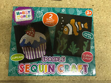 New Sequin Craft Art Cupcake & Clown Fish Design Arts And Crafts Fun Home School