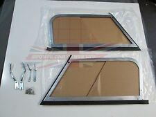 New Pair Aluminium Sliding Plexiglass Side Curtain Set Austin Healey 100-6 3000