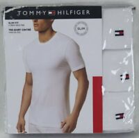 Tommy Hilfiger 3 pack White Slim Fit Crew Neck T-shirts Tee NWT