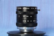 CANON TV LENS VF 25 mm 1:1.4 JAPAN , rare. C Mount,M25