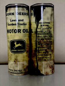 John Deere Motor Oil 20 OZ sublimation Tumbler