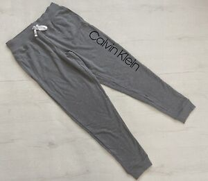 Calvin Klein Logo Women's Lounge pants Jogger sleepwear in grey Size S M L XL BN