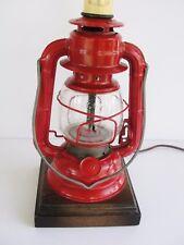 Vintage Dietz Ranch Craft Lantern Table Lamp Rustic Cabin Mid Century Railroad