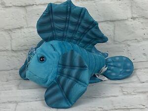 "Wildlife Artists 12"" Tropical Fish Plush Teal Blue Stuffed Animal Toy"