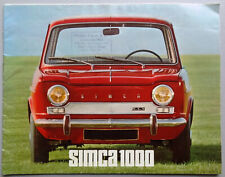 V13629 SIMCA 1000 - CATALOGUE - NON DATE - 21x27 - FR