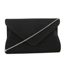 Prom Wedding Party Large Oversized Shimmer Glittery Envelope Clutch Evening Bag