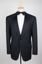 NWT. BRIONI Spartaco 09K Black Wool 1 Button Tuxedo Suit 56/46 L $6450