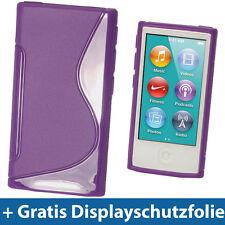 Lila Etui TPU für Neu Apple iPod Nano 7. Gen Generation 7G 16GB Gel Tasche Hülle