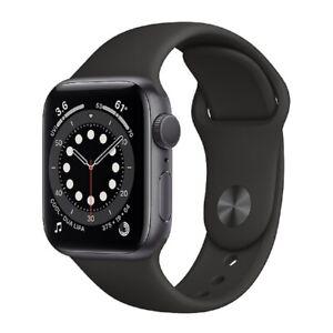 Apple Watch Series 6 GPS 40mm Spacegrau Aluminiumgehäuse Schwarz Sportarmand