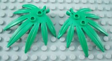 New LEGO Lot of 2 Green Plant Leaves with Clip End