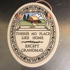 Trinity Pottery Wall Plaque Hand Crafted Home Grandmas Motto Love Family Made US