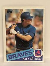 1985 Topps Dale Murphy baseball card Atlanta Braves NrMt-Mint  #320 MLB Outfield