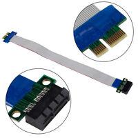 PCI-E 1X Slot Riser Card Extender Extension Ribbon Flex Cable Lead