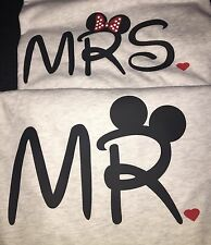 Couple T-Shirts Set Of Two Mrs And Mr. Disney Couple Mickey Shirt