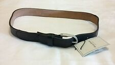 HARDY ARMIES Webbing / Leather Belt Grey Size Small