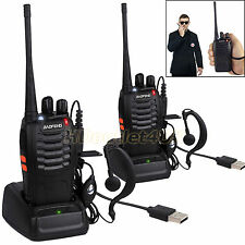 Two Way Radio Scanner Handheld Police Fire Transceiver Portable F-Antenna HAM