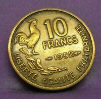 10 francs guiraud 1952 - TTB - pièce de monnaie française - N14182