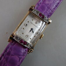 Rechteckige Armbanduhr Tiffany & Co. Walzgold um/ab 1940 (46516)