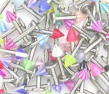 10x Stainless Steel Spike Top Labret Bars Lip Studs Tragus Ear Rings Monroe UK