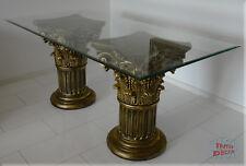 Griechischer Säulen Esstisch Wohnzimmertisch Tisch Glastisch Säule Antik 160 cm