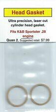 Aftermarket Cylinder Head Gasket 2 Pack, Fits K&B Sportster .28 NIP