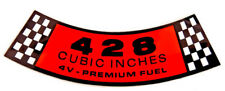New! 1968 Ford Mustang Air Cleaner Decal Premium Fuel 428 4V Free Shipping DF221