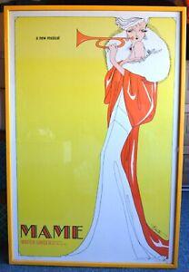 MAME, Vintage Broadway Theater poster, Angela Lansbury, Berta, FRAMED, 26x39
