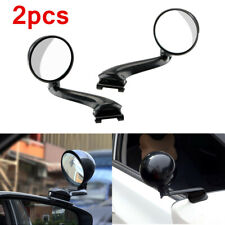 2pc Blind Spot Car Mirror 360° Wide Angle Adjustable Rear Side View Mirror Glass