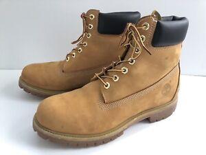 Timberland 6 Inch Premium Waterproof Boots 10061 Wheat US Men's Size 10M EUC!