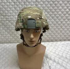 New Gentex Ballistic Helmet W/USMC chin Strap ASSEMBLY AND MULTICAM COVER Medium
