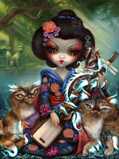 Jasmine Becket-Griffith art print SIGNED Kirin and Bakeneko japan yokai dragon
