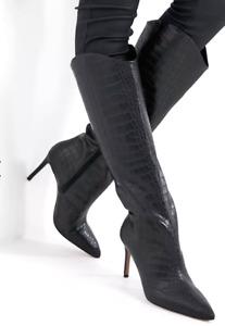 Call It Spring by ALDO Georgiaa Vegan Womens UK 5 Black Knee High Stiletto Boots
